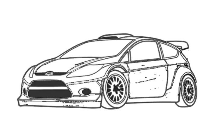 ford fiesta st coloring pages coloring pages